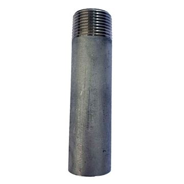 Picture of R100 BSP THREADED ONE END NIPPLE 80mm LONG 316
