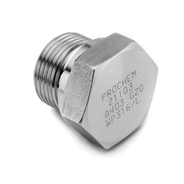 Picture of G10 BSP HEXAGON HEAD FLANGED PLUG 316