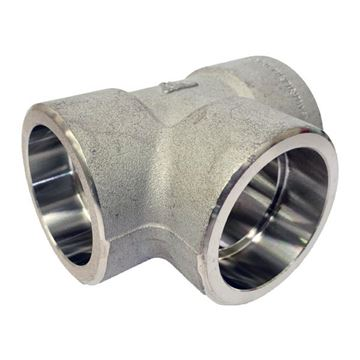 Picture of 40NB CL3000 SOCKETWELD EQUAL TEE 304/304L