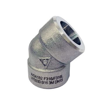Picture of 50NB CL3000 SOCKETWELD 45D ELBOW 316/316L