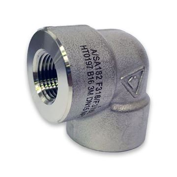 Picture of 25NPT CL3000 ELBOW 90 316