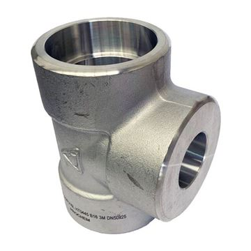 Picture of 50X40NB CL3000 SOCKETWELD REDUCING TEE 316/316L