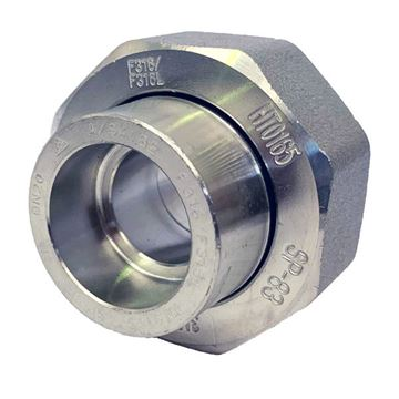 Picture of 25NB CL3000 SOCKETWELD UNION 304/304L