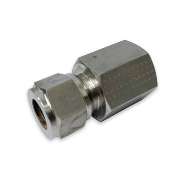 Picture of 6.3MM OD X 10BSPT CONNECTOR FEMALE GYROLOK 316