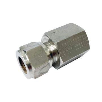 Picture of 6.3MM OD X 10NPT CONNECTOR FEMALE GYROLOK 316
