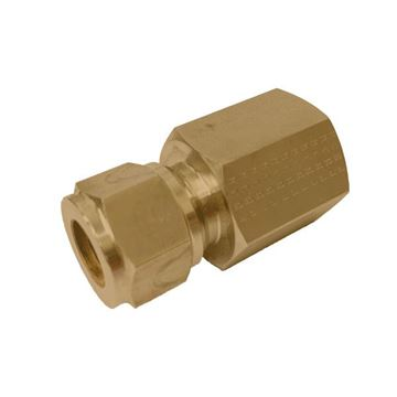 Picture of 9.5MM OD X 10NPT CONNECTOR FEMALE GYROLOK BRASS