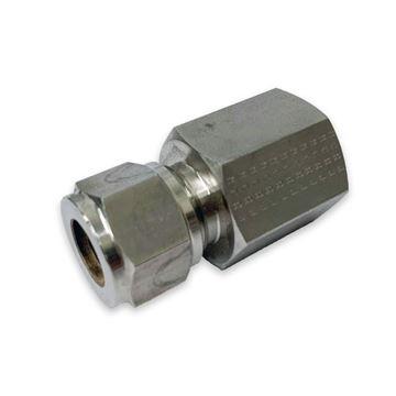 Picture of 12.7MM OD X 15NPT CONNECTOR FEMALE GYROLOK D50 SUPER DUPLEX UNS S32750