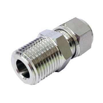 Picture of 10MM OD X 8NPT CONNECTOR MALE GYROLOK 316