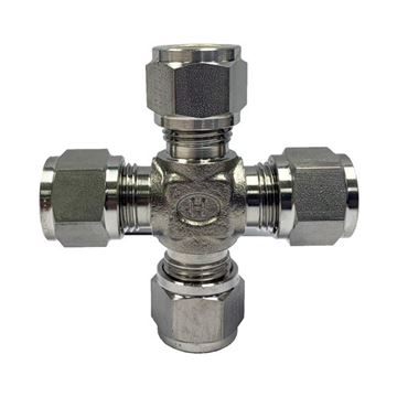 Picture of 9.5MM OD TUBE CROSS GYROLOK 316