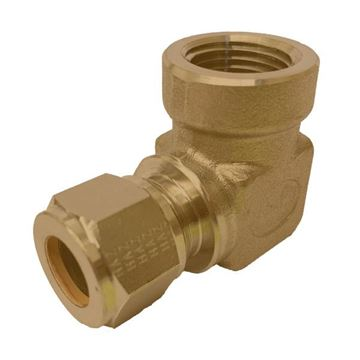 Picture of 19.1MM OD X 15NPT 90D ELBOW FEMALE GYROLOK BRASS