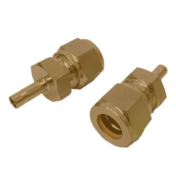 Picture of 3.2MM OD X 9.5MM OD TUBE REDUCER GYROLOK BRASS