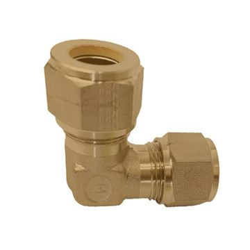 Picture of 9.5MM OD 90D ELBOW UNION GYROLOK BRASS