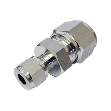 Picture of 19.1MM OD X 6.3MM OD REDUCING UNION GYROLOK 316
