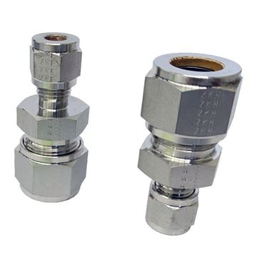 Picture of 19.1MM OD X 12.7MM OD REDUCING UNION GYROLOK 6MO UNS S31254