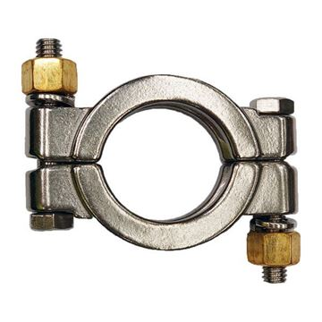 Picture of 12.7/19.1 TriClamp CLAMP 304 HIGH PRESSURE DOUBLE BOLT W/BRONZE NUTS