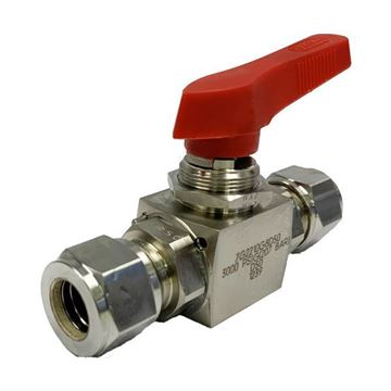 Picture of 12.7 OD TUBE 3000PSI BALL VALVE TFE SEATS SUPER DUPLEX UNS S32750 HOKE