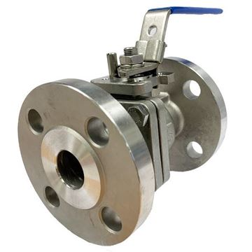 Picture of 25 ANSI150 CL150 2-PIECE FULL BORE FLANGED BALL VALVE GRTFE SEAL CF8M