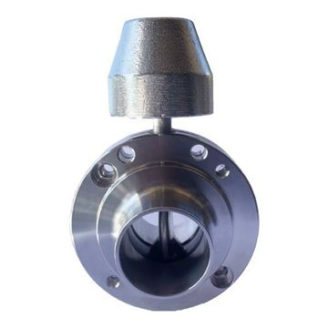 Picture of 25.4 BUTTWELD BUTTERFLY VALVE EPDM SEAL 316 C/W LOCKING HANDLE