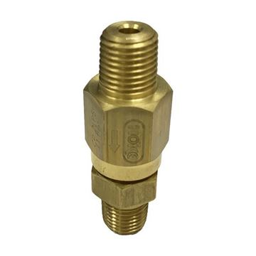 Picture of 8NPT MALE 3000PSI BALL CHECK VALVE BRASS 2PSI CRACKING PRESSURE