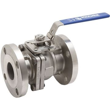 Picture of 100 ANSI150 CL150 2-PIECE FULL BORE FLANGED BALL VALVE GRTFE SEAL CF8M