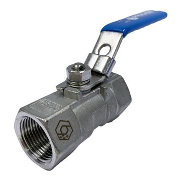 Picture of G32 BSP 2-PIECE FULL BORE BALL VALVE 1000WOG PTFE SEAL CF8M C/W LOCKING HANDLE