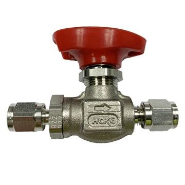 Picture of 6.3 OD TUBE 6000PSI BALL VALVE FORGED BODY 316 FLOMITE