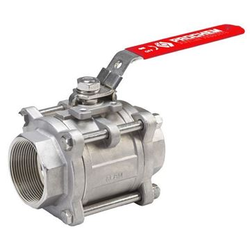 Picture of 8NPT 3-PIECE FULL BORE BALL VALVE 1000WOG GRTFE SEAL CF8M