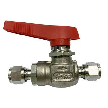 Picture of 6.3 OD TUBE 6000PSI BALL VALVE FORGED BODY 6MO UNS S31254 FLOMITE