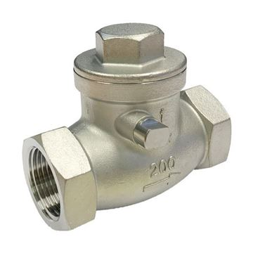 Picture of Rc20 BSP CL200 SWING CHECK VALVE CF8M