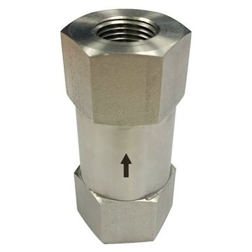 Picture of 15NPT FEMALE 6000PSI POPPET CHECK VALVE 316 2PSI CRACKING PRESSURE