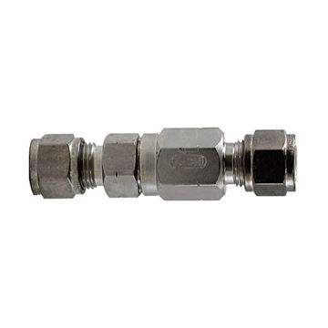 Picture of 12.7 OD TUBE 6000PSI POPPET CHECK VALVE 316 2PSI CRACKING PRESSURE