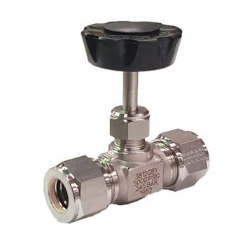 Picture of 9.5 OD TUBE 5000PSI NEEDLE VALVE FORGED BODY 316 REGULATING STEM