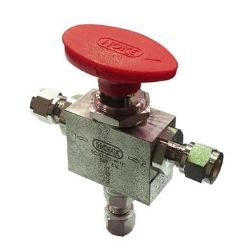 Picture of 12.7 OD TUBE 6000PSI BALL VALVE 3-WAY 316 HOKE SELECTOMITE