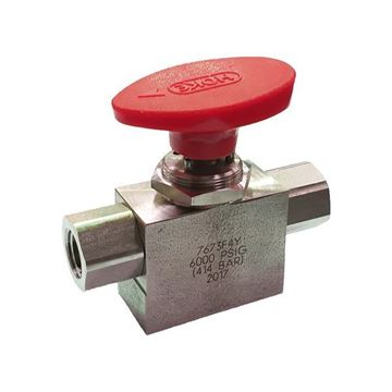 Picture of 8NPT FEMALE 6000PSI BALL VALVE 3-WAY 316 HOKE SELECTOMITE