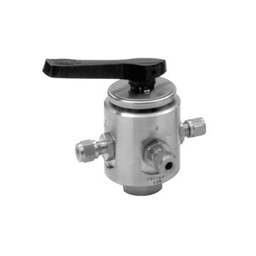 Picture of 6.3 OD TUBE 2000PSI BALL VALVE 4-WAY 316 MULTIMITE TRUNNION STYLE