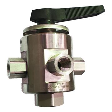 Picture of 8NPT FEMALE 2000PSI BALL VALVE 5-WAY 316 MULTIMITE TRUNNION STYLE