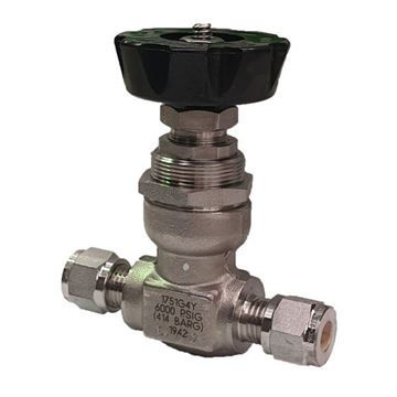 Picture of 9.5 OD TUBE 6000PSI NEEDLE VALVE FORGED BODY 316 NON ROTATING STEM