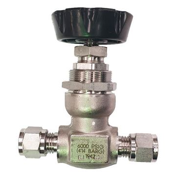 Picture of 9.5 OD TUBE 6000PSI NEEDLE VALVE FORGED BODY 316 NON ROTATING STEM SOUR GAS