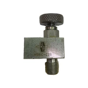Picture of 8NPT M/F 6000PSI ANGLE MINI HAND VALVE O-RING PACK HARD SEAT CARBON STEEL AGCO