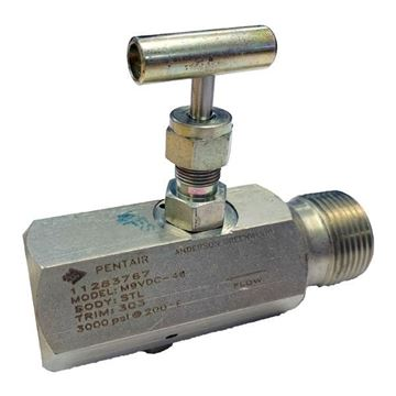 Picture of 20X15NPT M/F 3000PSI B&B GAUGE VALVE TEFLON PACK SOFT SEAT DELRIN CARBON STEEL AGCO