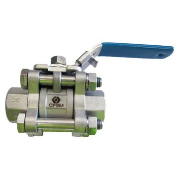 Picture of 40NB SOCKETWELD 3-PIECE FULL BORE BALL VALVE 1000WOG GRTFE SEAL CF8M