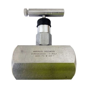 Picture of 20NPT F/F 6000PSI HAND VALVE SOFT SEAT 9.5MM ORIF O-RING PACK DELRIN 316 AGCO SOUR GAS