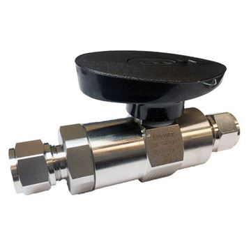 Picture of 12.7 OD GYROLOK 5000PSI BALL VALVE 6MO UNS S31254 ROTOBALL LOW PROFILE HOKE
