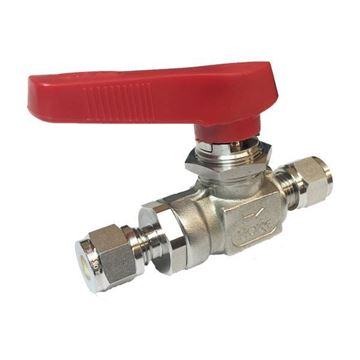 Picture of 6.3 OD TUBE 2000PSI BALL VALVE FORGED BODY 316 FLOMITE 218DEG C SERVICE