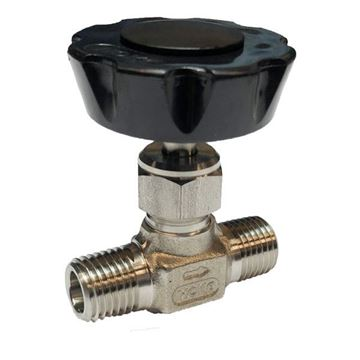 Picture of 8NPT MALE 5000PSI NEEDLE VALVE FORGED BODY 316 KEL-F STEM