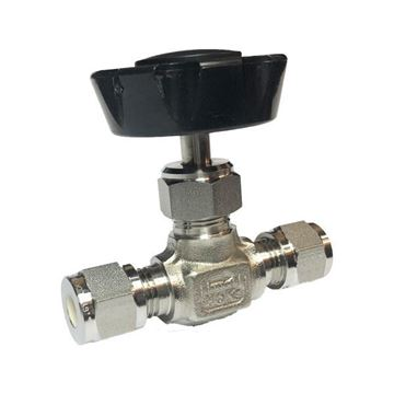 Picture of 6.3 OD TUBE 5000PSI NEEDLE VALVE FORGED BODY 316 REGULATING STEM PANEL MOUNT