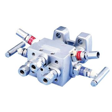 Picture of AS4TVIS-2/2-GY-I-WP MANIFOLD BLOCK DP AGCO 6000 PSI 4-VALVE GYROLOK ENDS 316