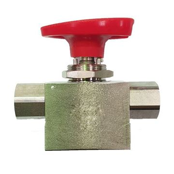 Picture of 8NPT FEMALE 500PSI BALL VALVE 3-WAY 316 SELECTOMITE