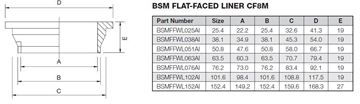 Picture of 25.4 BSM FLAT FACE BUTTWELD LINER CF8M