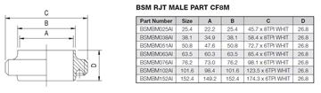 Picture of 38.1 BSM BUTTWELD MALE PART CF8M